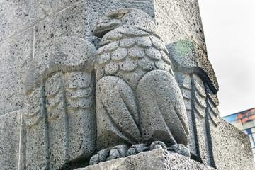 Stone Eagle 1910 Revolution Monument Mexico City Mexico