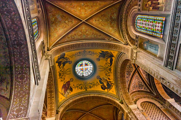 Stained Glass Ceiling Basilica San Francisco Church Mexico City Mexico