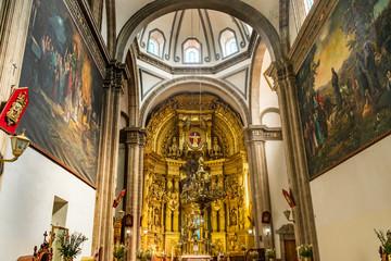 Basilica Altar San Francisco Church Mexico City Mexico