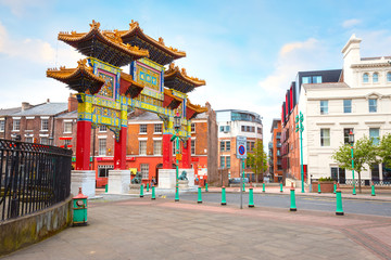 Liverpool Chinatown in the UK, the biggest Chinese community in Europe