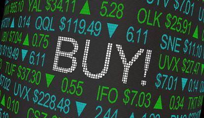 Buy Order Stock Market Ticker 3d Illustration