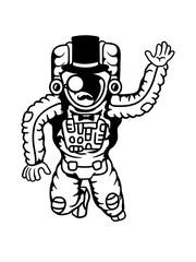 astronaut sir herr gentlemen zylinder hut monokel reich weltall kosmonaut raumfahrer raumschiff rakete science fiction weltraumfahrer forscher fliegen schweben schwerelos raumanzug zukunft