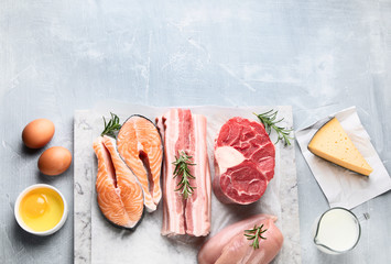Foods high in animal protein
