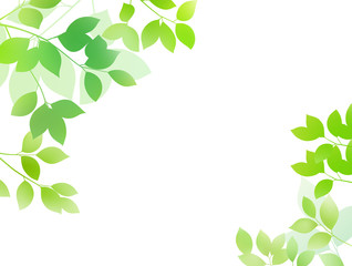Fresh green image background material