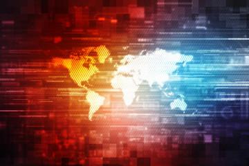 Futuristic digital binary background