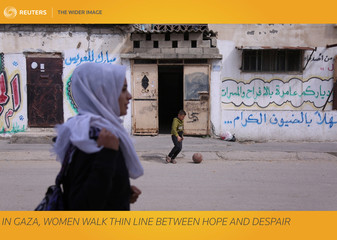 The Wider Image: In Gaza, women walk thin line between hope and despair
