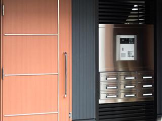 Fototapete - 集合住宅のインターホンと郵便ポスト