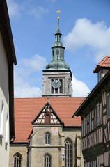 Fototapete - Marienkirche zu Königsberg in Bayern