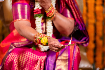 Rituals, traditional Hindu wedding , South India