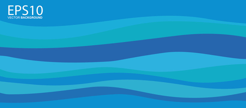 Abstract blue wave colorful background.