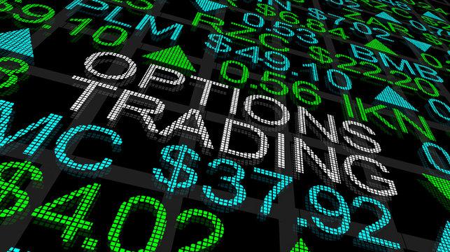 Options Trading Stock Market Ticker 3d Illustration
