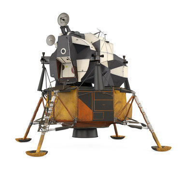Apollo Lunar Module Isolated