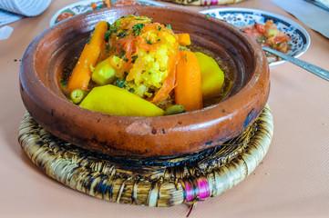 Traditional tajine food in Marrakech, Morocco