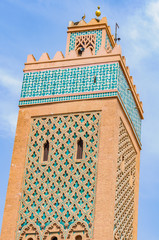 The tower of Moulay El yazid Mosque in Marrakech, Morocco