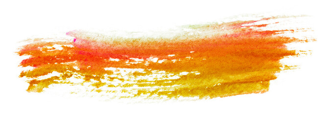 orange watercolor stain watercolor stain drawn by hand.