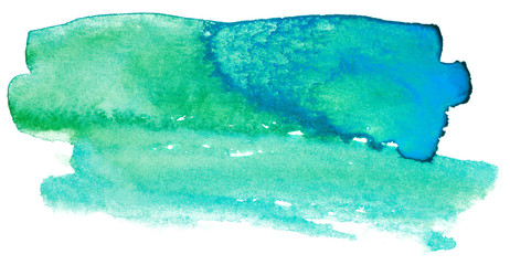 green watercolor stain drawn by hand. high resolution real texture