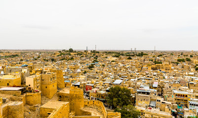 view of jaisalmer city from fort