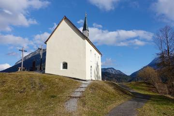 chapel near Eschenlohe Bavaria Germany