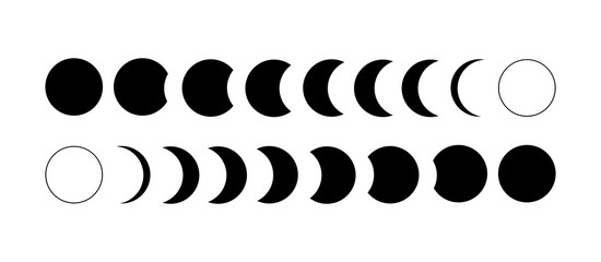 The sun a solar eclipse or the moon phases of astronomy