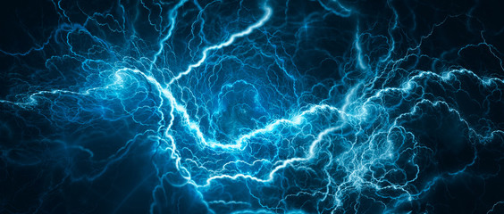 Blue glowing lightning