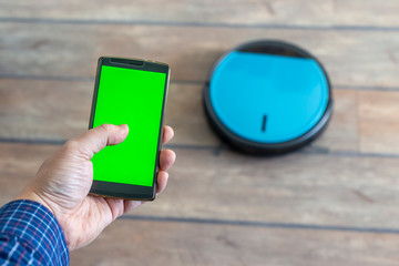 Phone app smart robot vacuum cleaner control