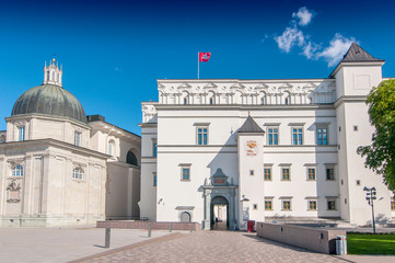 Palace of The Grand Dukes of Lithuania and National Museum in Vilnius, Lithuania. Wall mural
