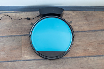Robot vacuum cleaner chargin on a docking station