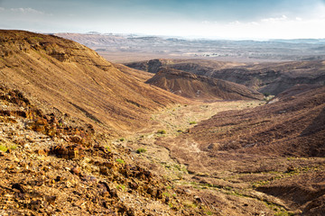 Fototapete - Desert mountain range valley landscape view, Israel nature.
