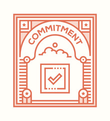 COMMITMENT ICON CONCEPT