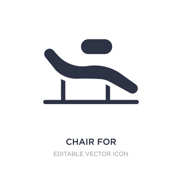 chair for treatments icon on white background. Simple element illustration from Buildings concept.