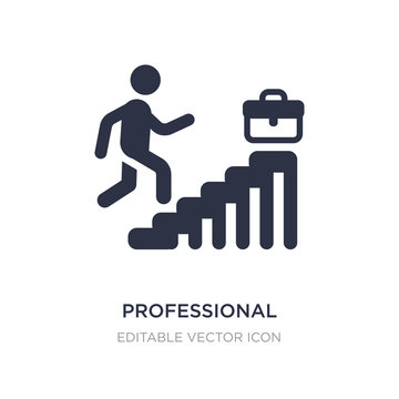 professional advance icon on white background. Simple element illustration from Business concept.