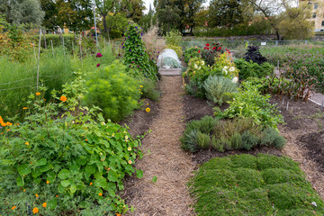 open garden in the town of Mariestad