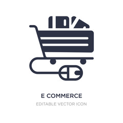 e commerce shopping cart tool icon on white background. Simple element illustration from Commerce concept.