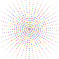 Circle  with multicolored rays