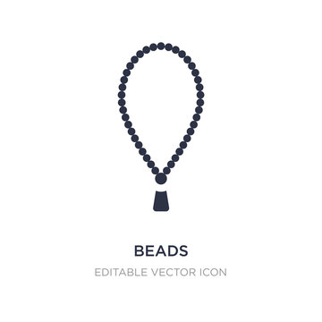 beads icon on white background. Simple element illustration from Cultures concept.
