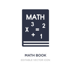 math book icon on white background. Simple element illustration from Education concept.