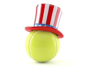 Tennis ball with usa hat Wall mural