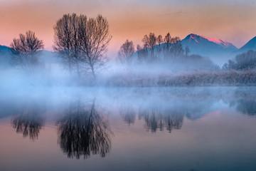 Panorama lungo il fiume Adda