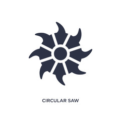 circular saw icon on white background. Simple element illustration from tools concept.