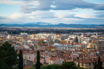 Panoramic view of the city, Perpignan, Pyrenees-Orientales, France