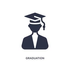 graduation pictures icon on white background. Simple element illustration from education concept.