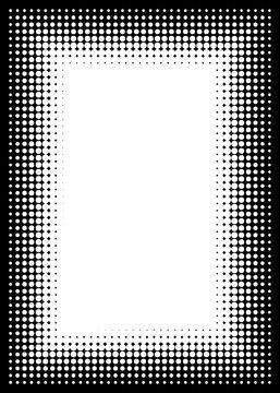 Halftone Decorative Black and White Photo Frame