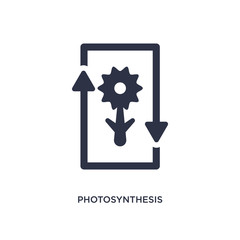 photosynthesis icon on white background. Simple element illustration from education 2 concept.