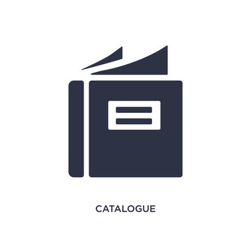 catalogue icon on white background. Simple element illustration from fashion and commerce concept.