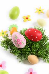 easter egg on white background