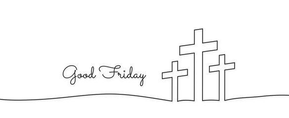 concept of the crucifixion in the form of 3 crosses goodfriday holiday