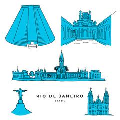 Rio de Janeiro architecture drawings