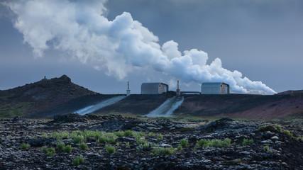 Reykjanes power plant at the southwestern part of Iceland