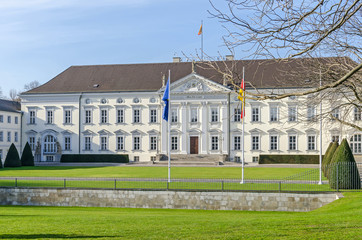 Bellevue Palace, the residence of the President of Germany in Berlin's Tiergarten district