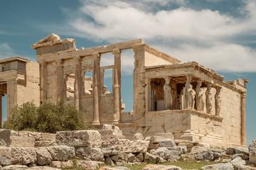 Keuken foto achterwand Athene The Caryatids of the Erechtheion, Acropolis, Athens, Greece.